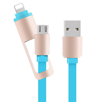 2-in-1 Telescopic Interface Universal Retractable USB Charging and Data Cable for Android/Apple