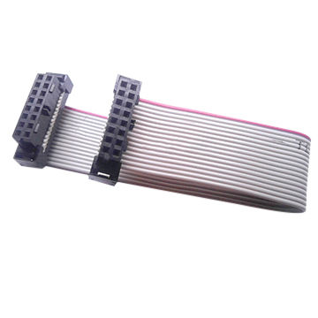 UL2651 gray IDC flat ribbon cable with Molex 87568 sockets