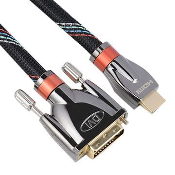 High Quality 24k Gold-plated Connectors HDMI To DVI Adapter Cable High Speed Data Cables